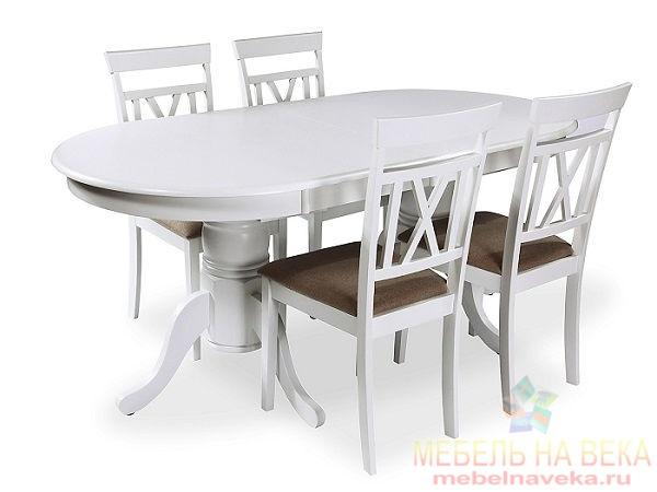 Обеденная группа ES 2000 + 4 стула ES 2003-5 white