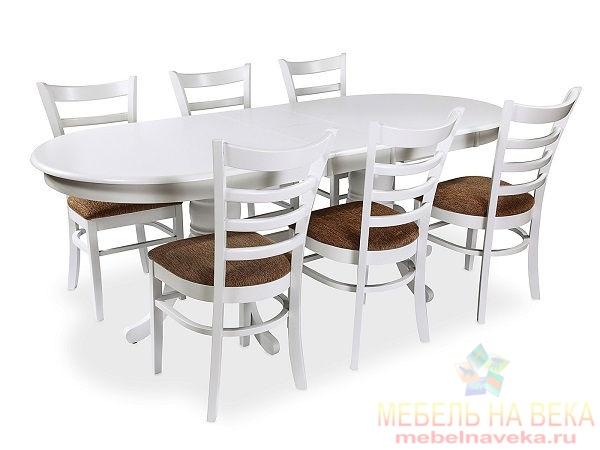 Обеденная группа стол ES 2000 + 6 стульев ES 2000 (white)