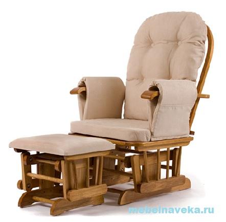 Кресло-качалка гляйдер с оттоманкой King-made 013.010