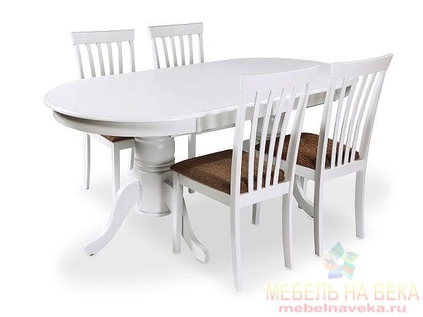 Обеденная группа ES 2000 + 4 стула ES 2003 white