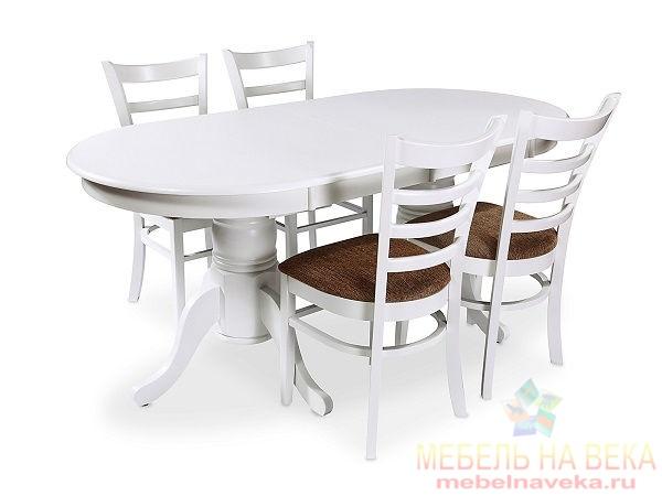 Обеденная группа ES 2000 + 4 стула ES 2000 white