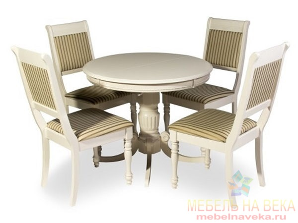 Обеденная группа стол OL-T4EX3 и 4 стула CH-SC white