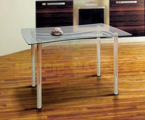 Стол из стекла для кухни Гранд-1