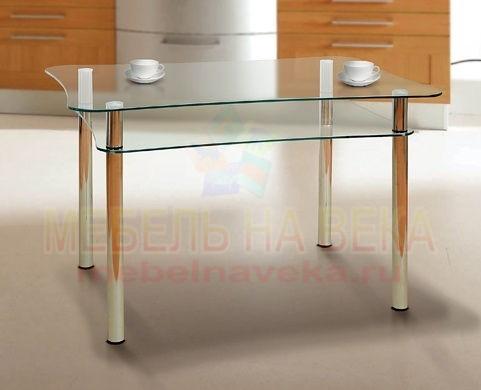 Стеклянный стол Дуэт-2 для кухни