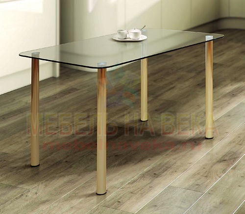 Стол стеклянный кухонный Гранд-3
