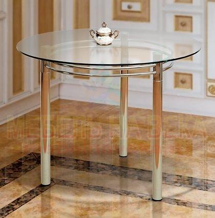 Круглый стол из стекла Катрин