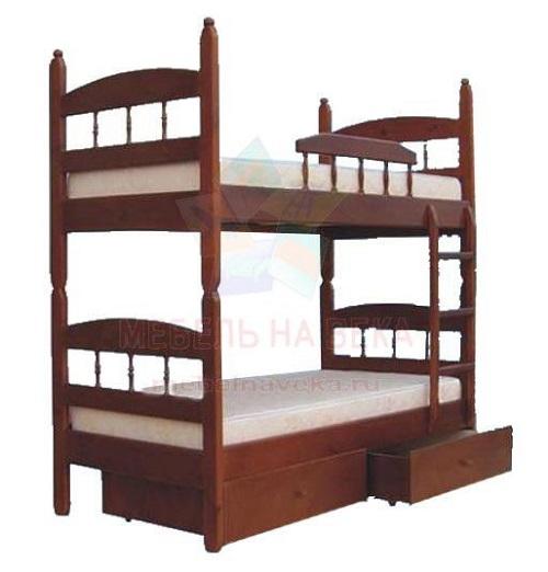 Двухърусная кровать Кузя-2