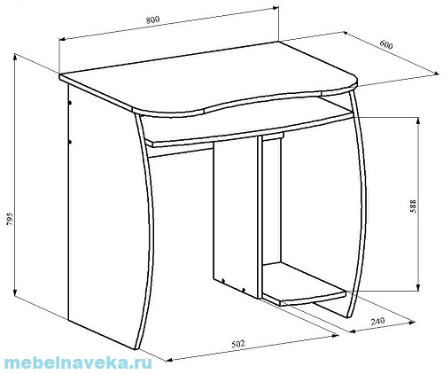 Компьютерный стол КС-6 Бекас