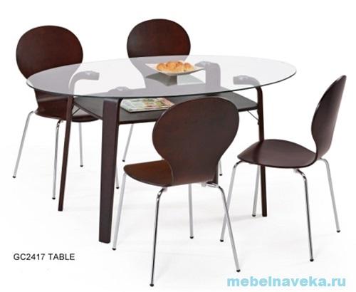 Стеклянный стол обеденный GC 2417
