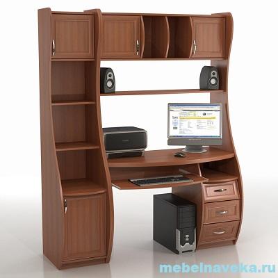 Компьютерный стол КС-1К Беркут с стеллажом Триумф СФ-403Д