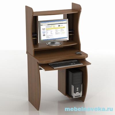 Компьютерный стол КС-6 Бекас с надстройкой КН-6