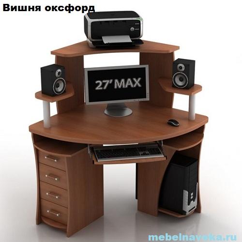 Компьютерный стол КС-2 Сокол с надстройкой КН-1