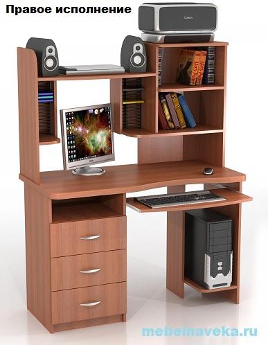 Компьютерный стол КС-10М Ласточка с надстройкой КН-7