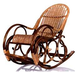 Плетеное кресло качалку